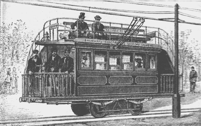 Die Geschichte des elektrischen Antriebs von Schienenfahrzeugen ETramParis1881