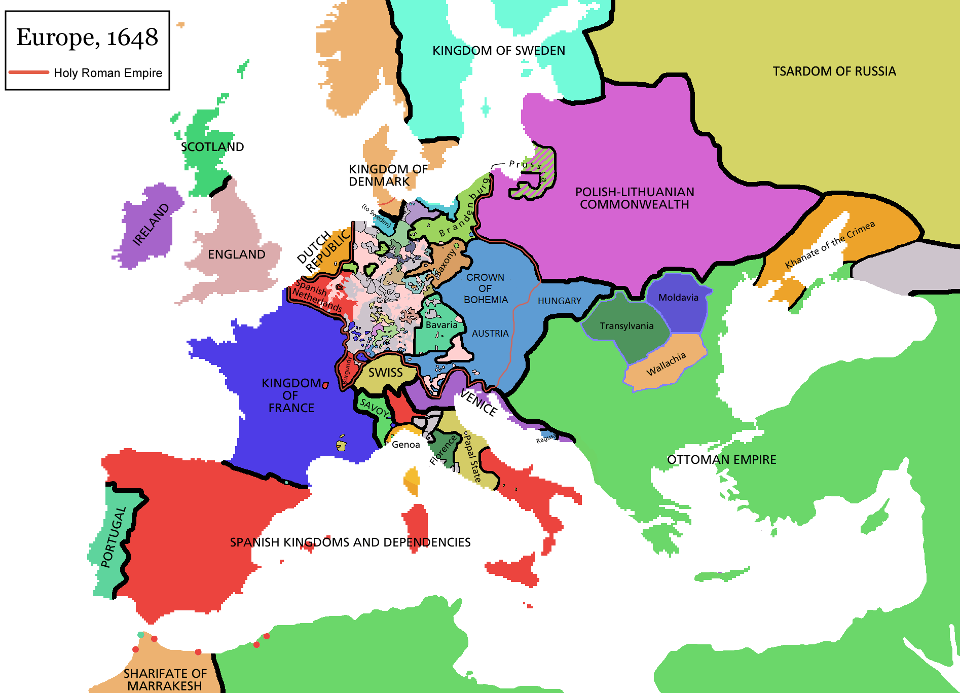 Atlas of european history wikimedia commons europe map 1648g gumiabroncs Image collections