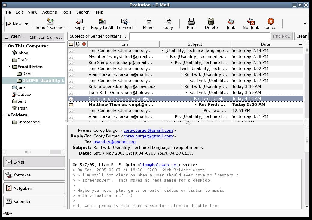 Download Linux E-Mail Client Software