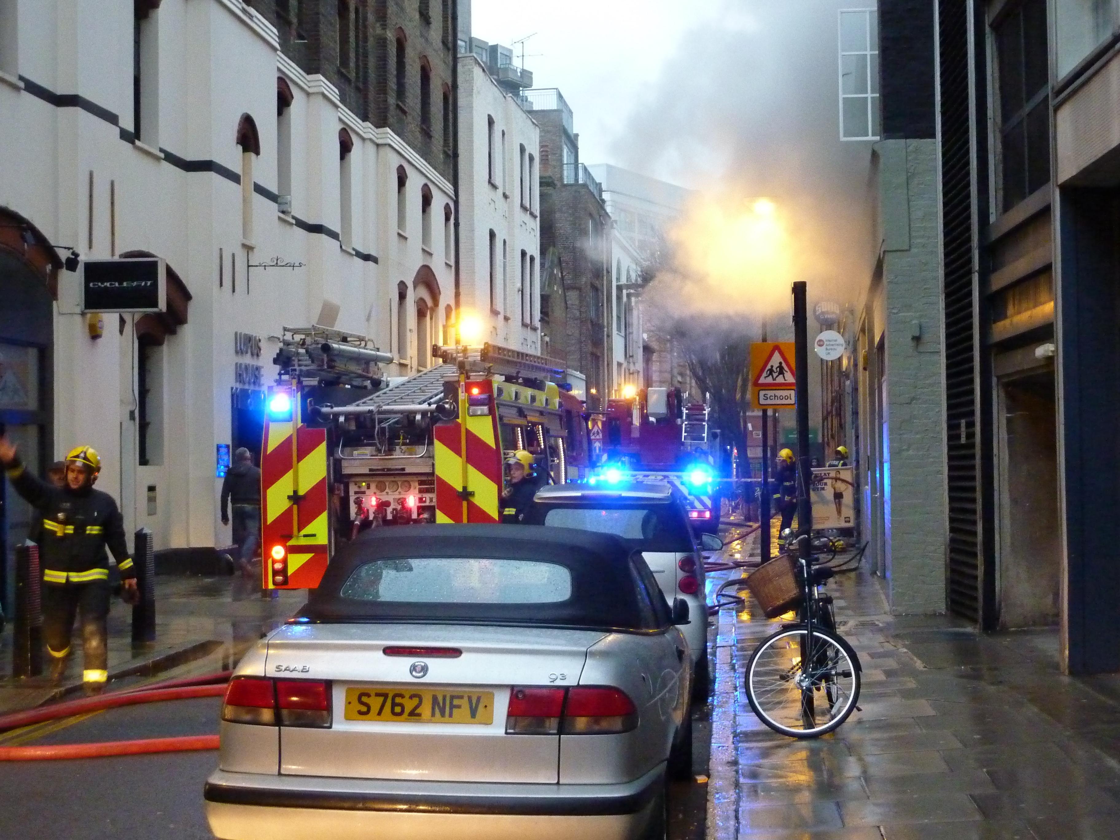 London Fire Brigade at work