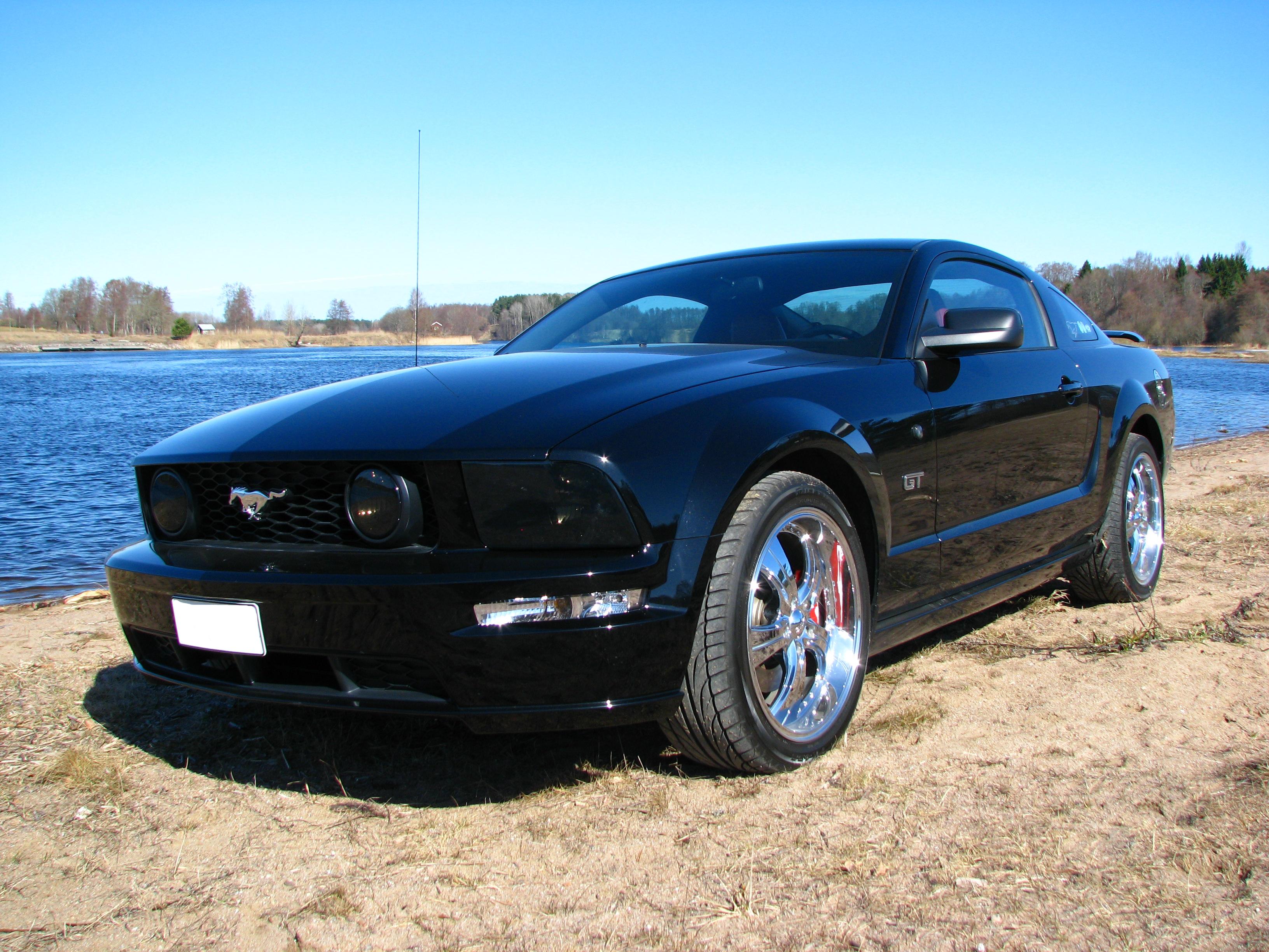 fileford mustang gt 2005 blackpng - Ford Mustang Gt Black