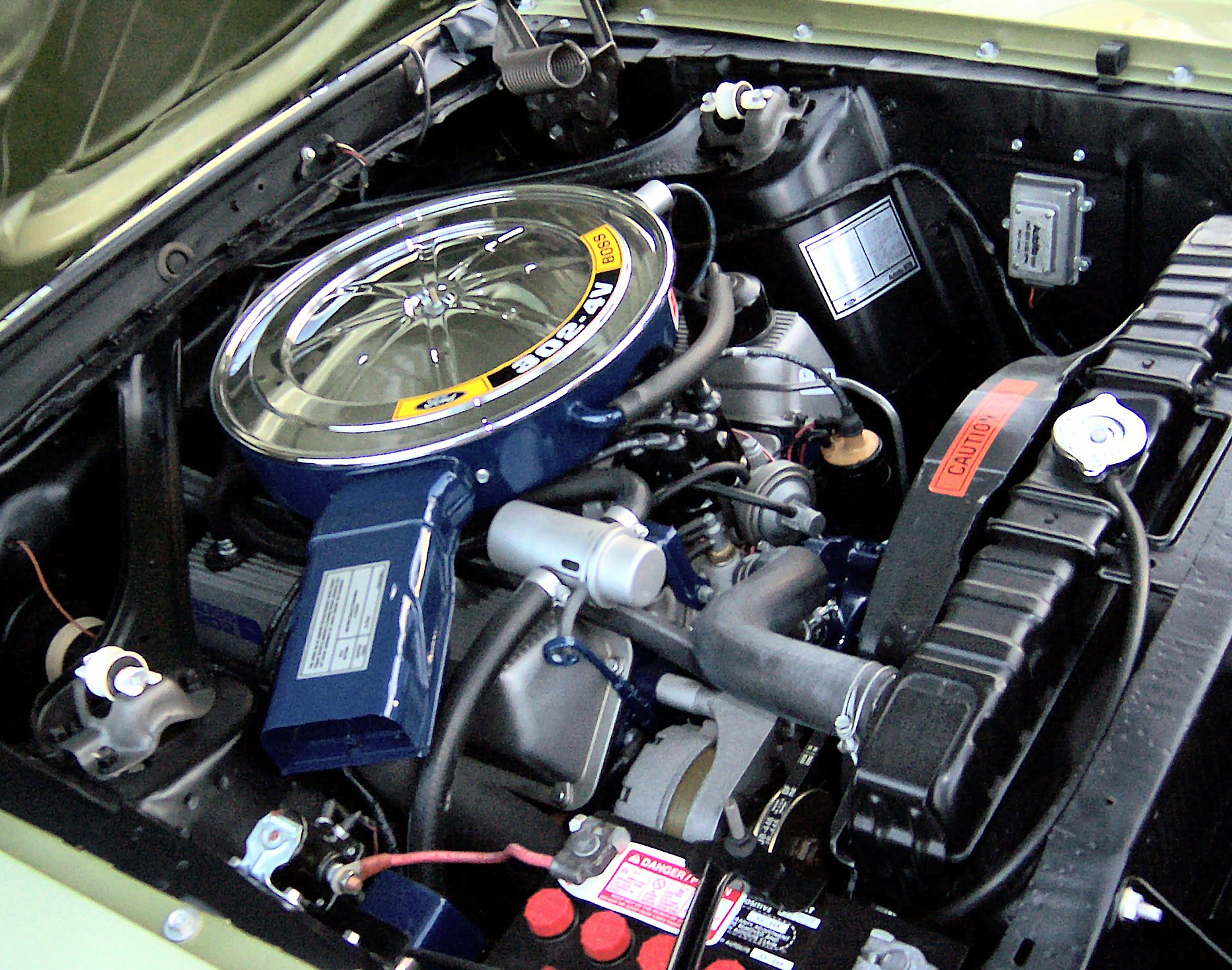 Ford Boss 302 engine on ford 500 transmission dipstick location