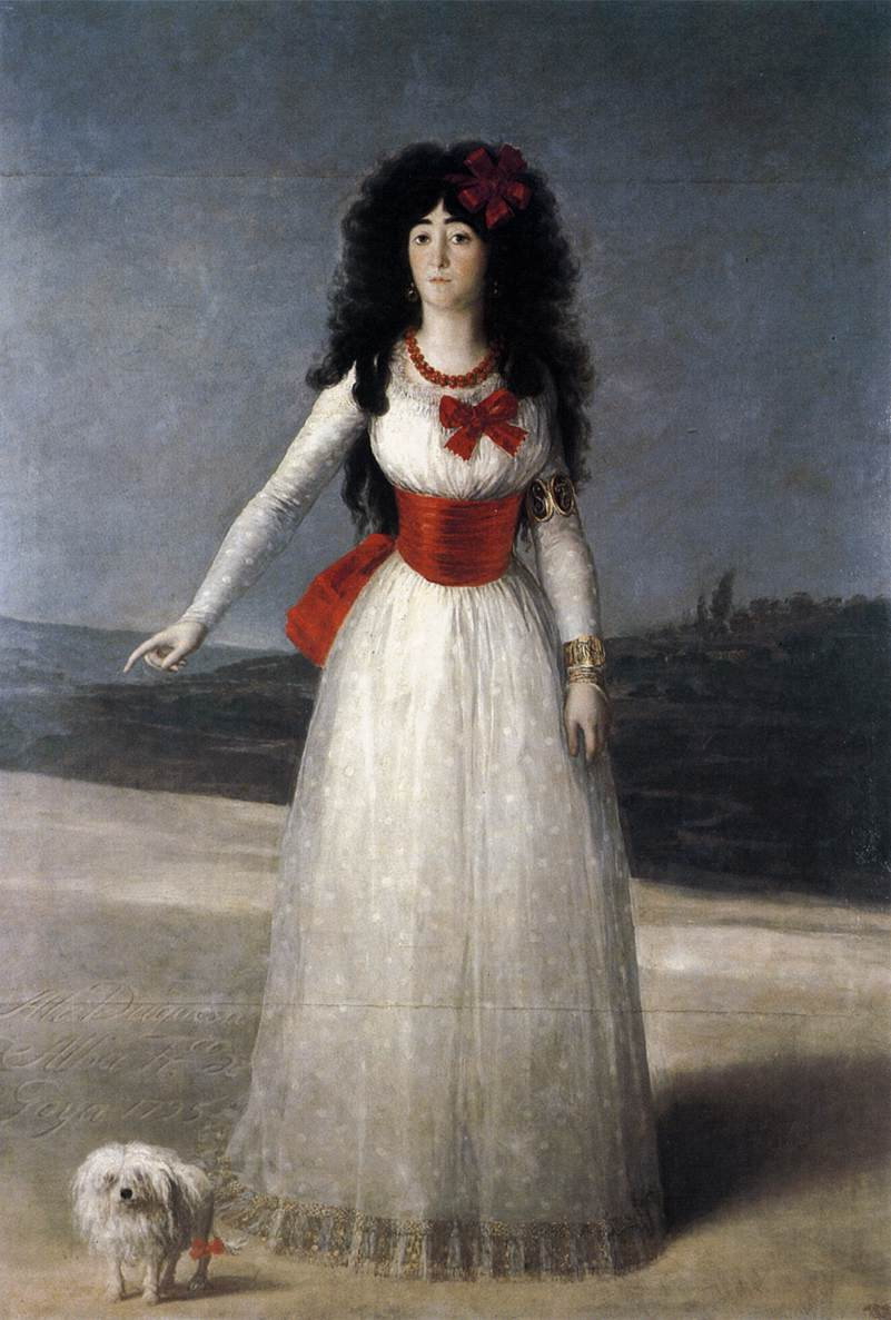 <img200*0:http://upload.wikimedia.org/wikipedia/commons/d/d0/Francisco_de_Goya_y_Lucientes_-_The_Duchess_of_Alba_-_WGA10020.jpg>