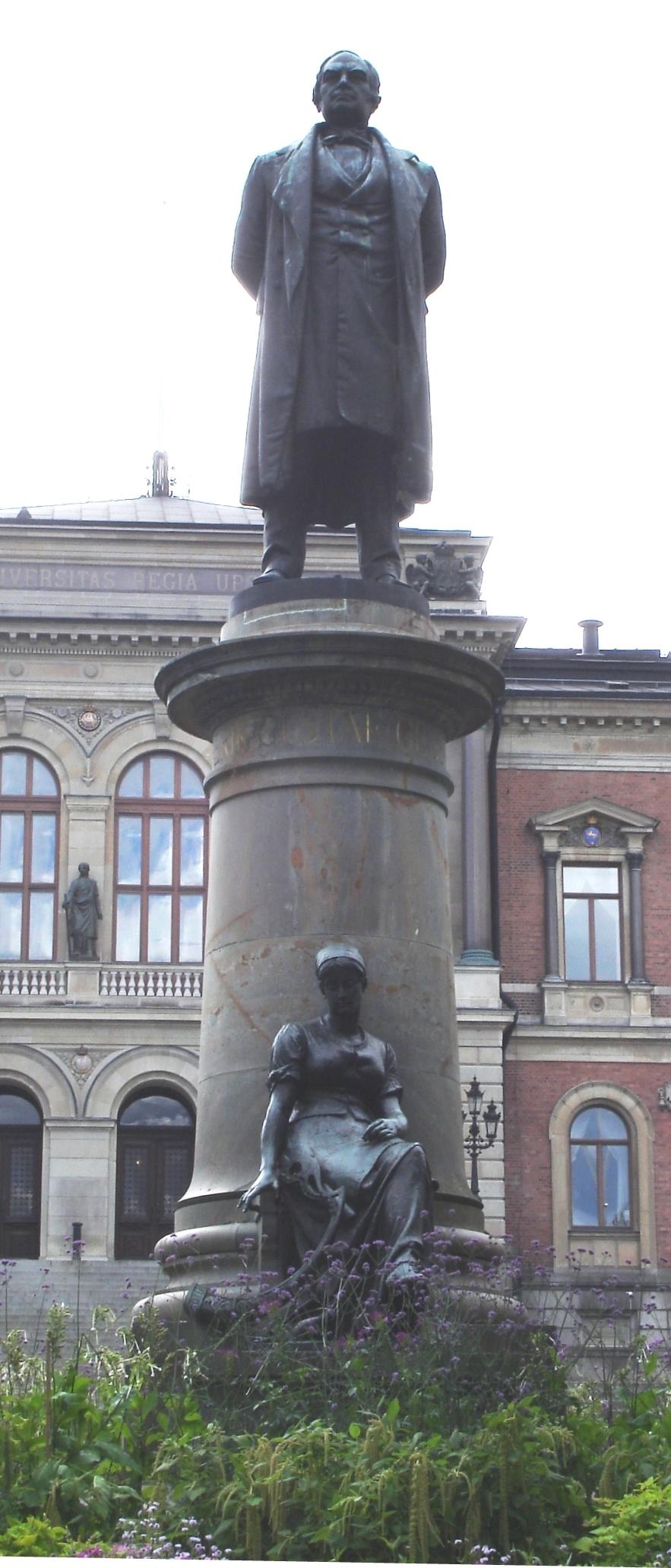Statue of Geijer at Universitetsparken in Uppsala