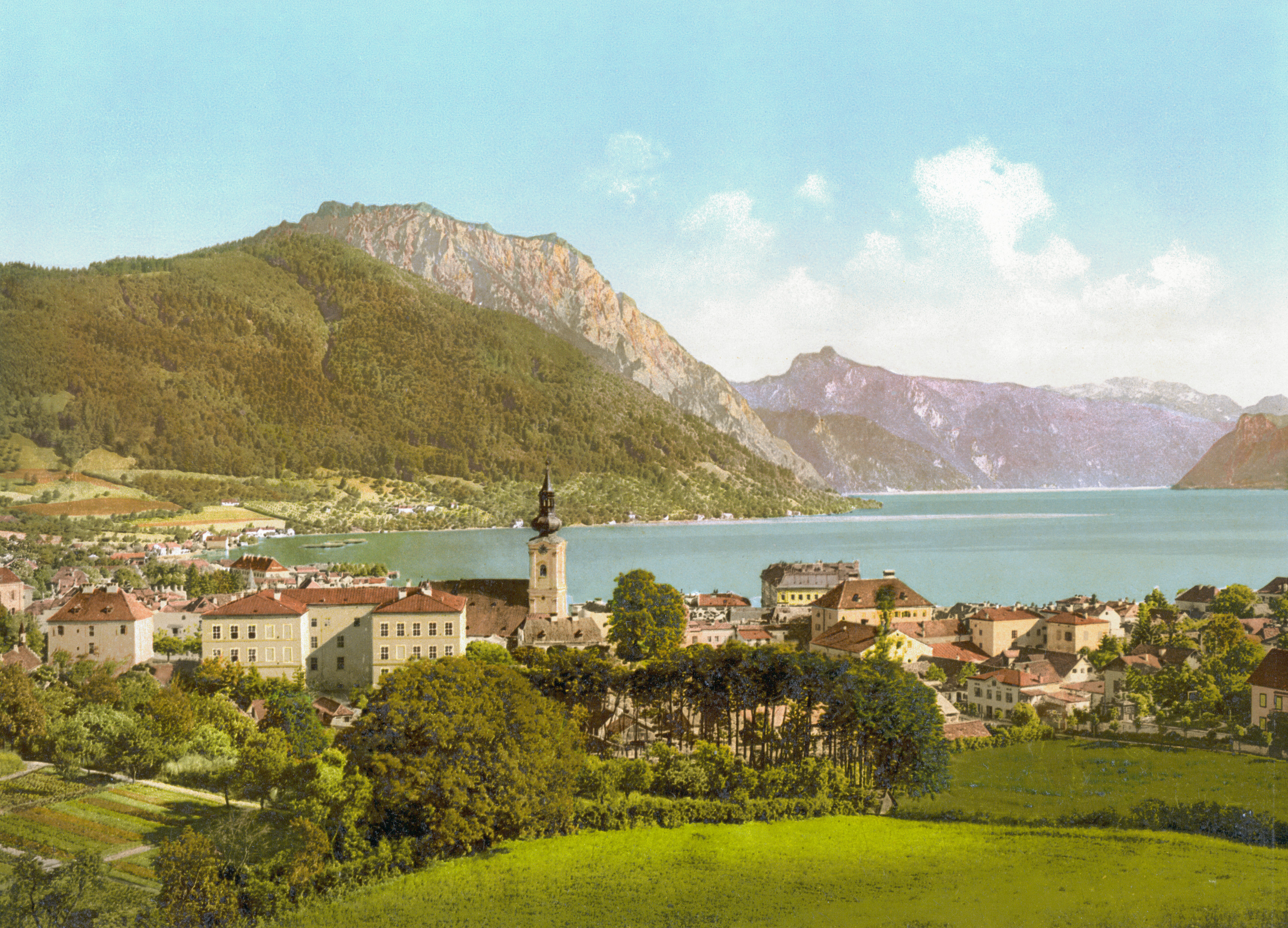 File:Gmunden Traunsee 1900.jpg - Wikimedia Commons