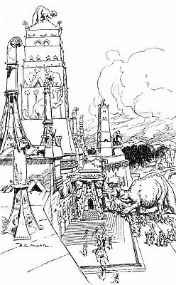 Temple of the Great Sloth, illustration by H. R. Millar