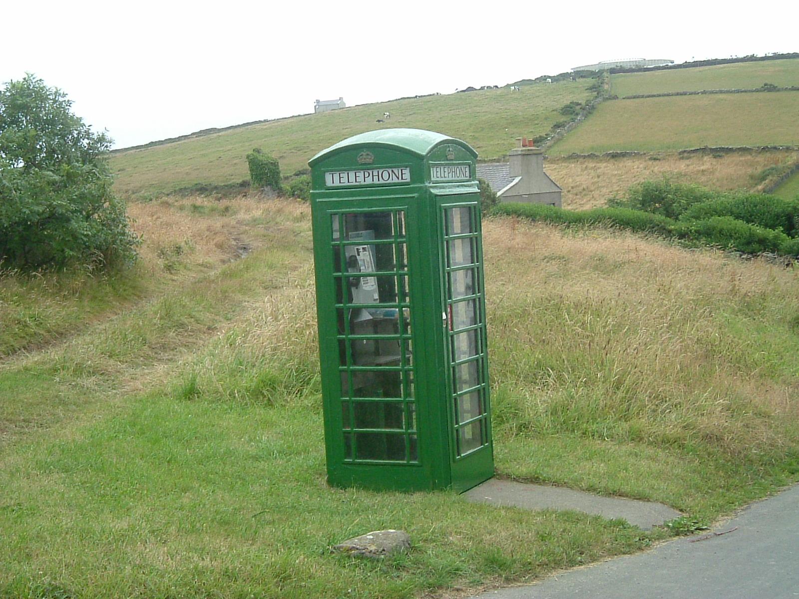 Cabina Telefonica Londinese Wikipedia : File green manx phone box g wikipedia