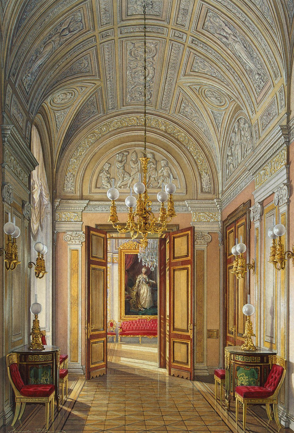file hau interiors of the small hermitage the study wikimedia commons. Black Bedroom Furniture Sets. Home Design Ideas