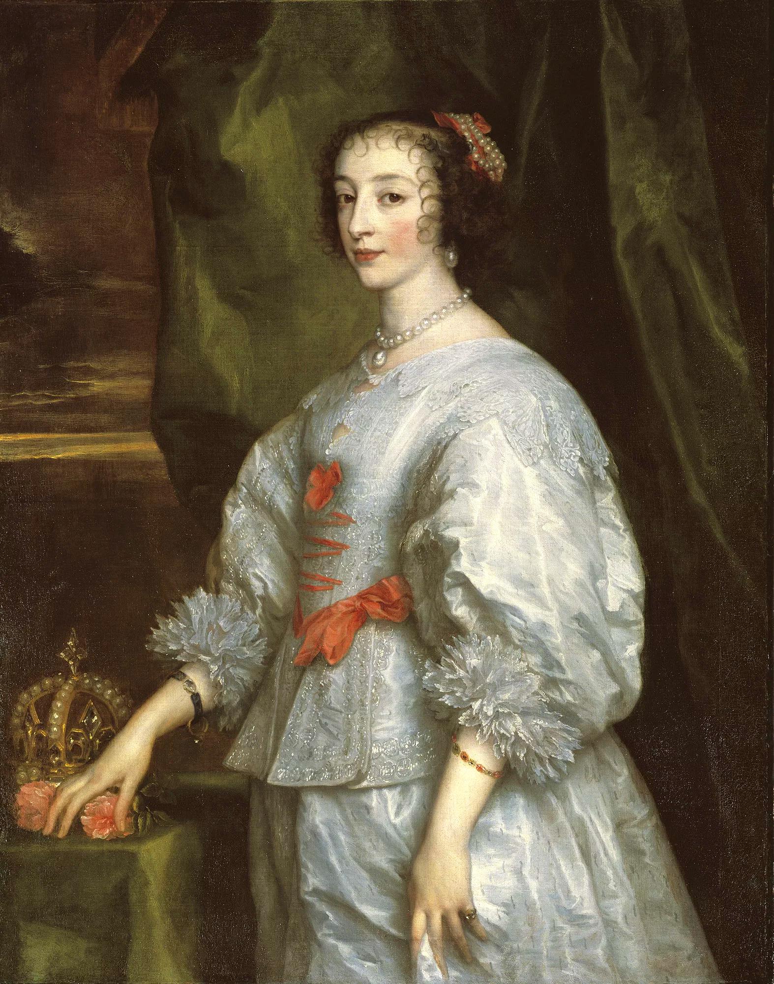 Карл I и Генриетта встречают Марию Медичи.