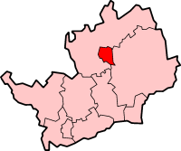 Stevenage shown within Hertfordshire