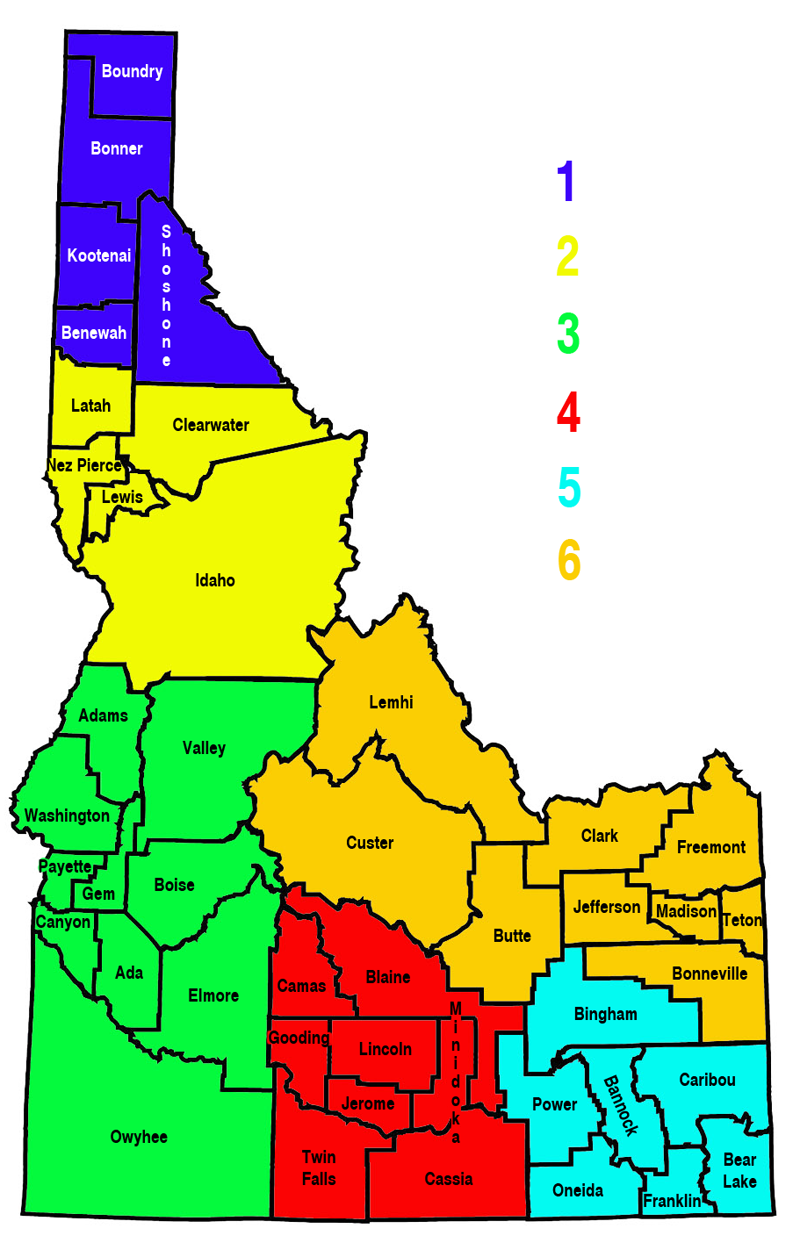 FileID Idaho State Police Regionspng Wikimedia Commons - State of idaho map