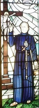 Window depicting Fr Ignatius, from his shrine