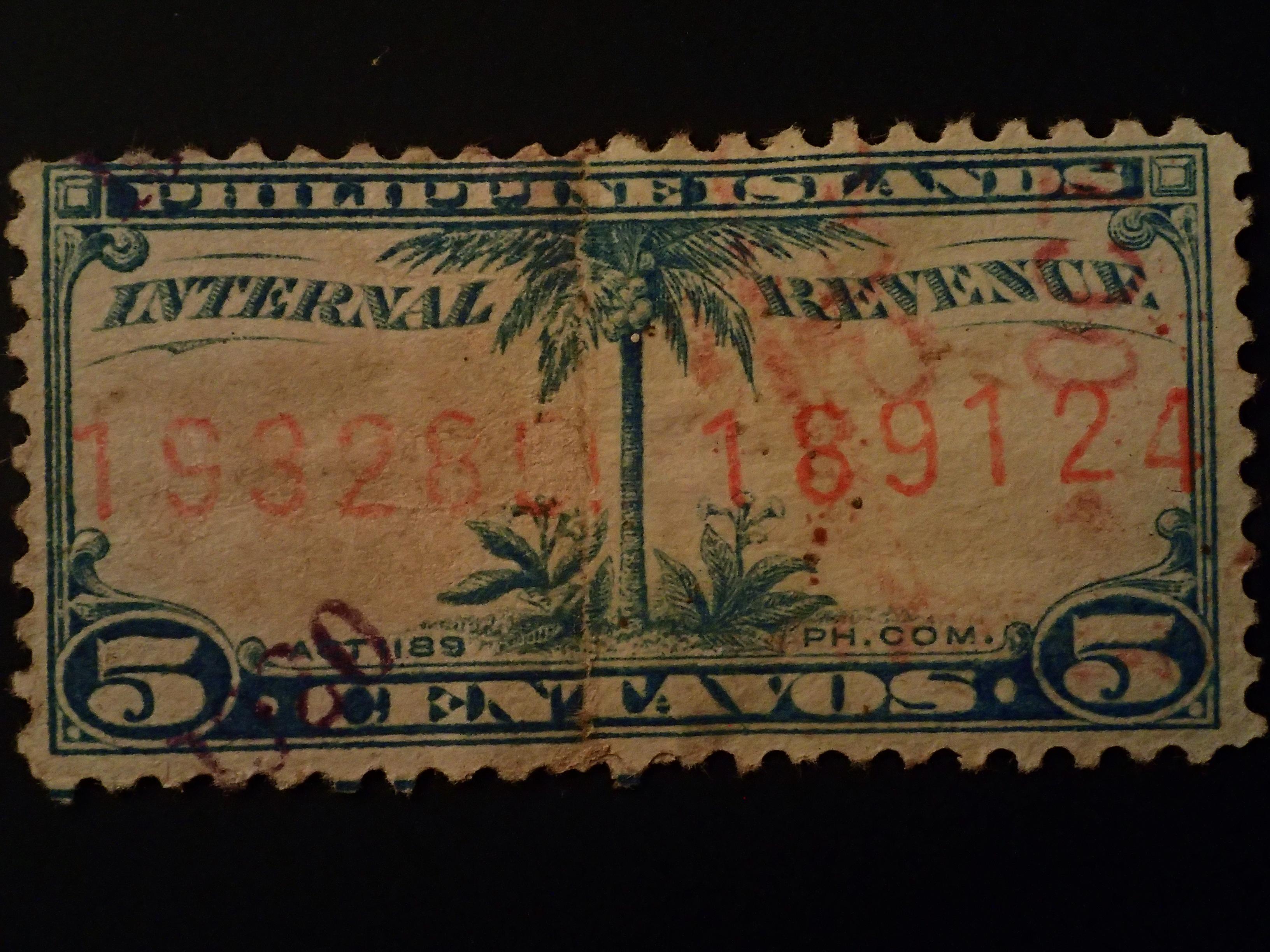 FileInternal Revenue Stamps Philippine Islands 1905 1928 18JPG