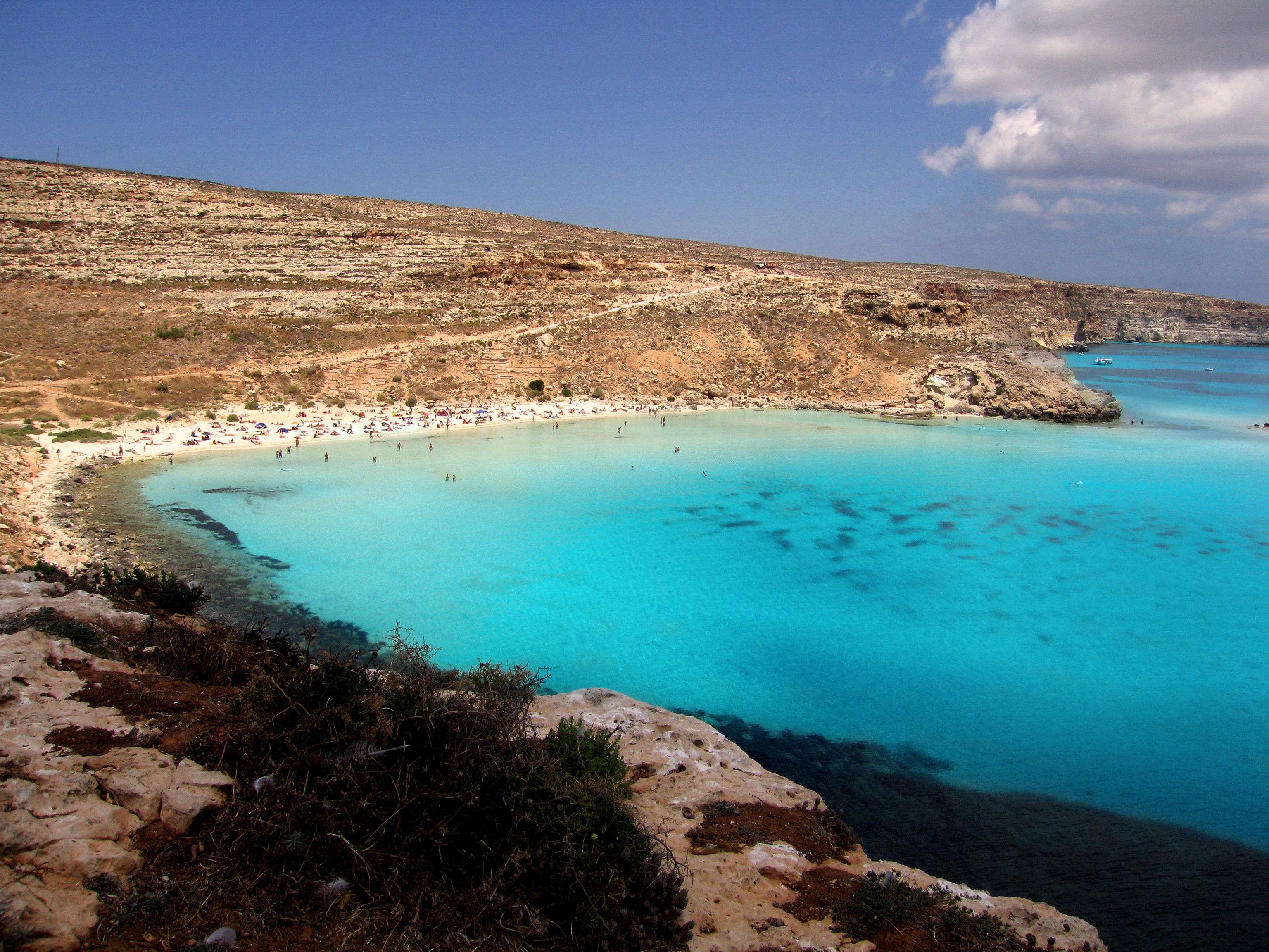 Italy s best beaches the rabbit beach on lampedusa for Best beach near la