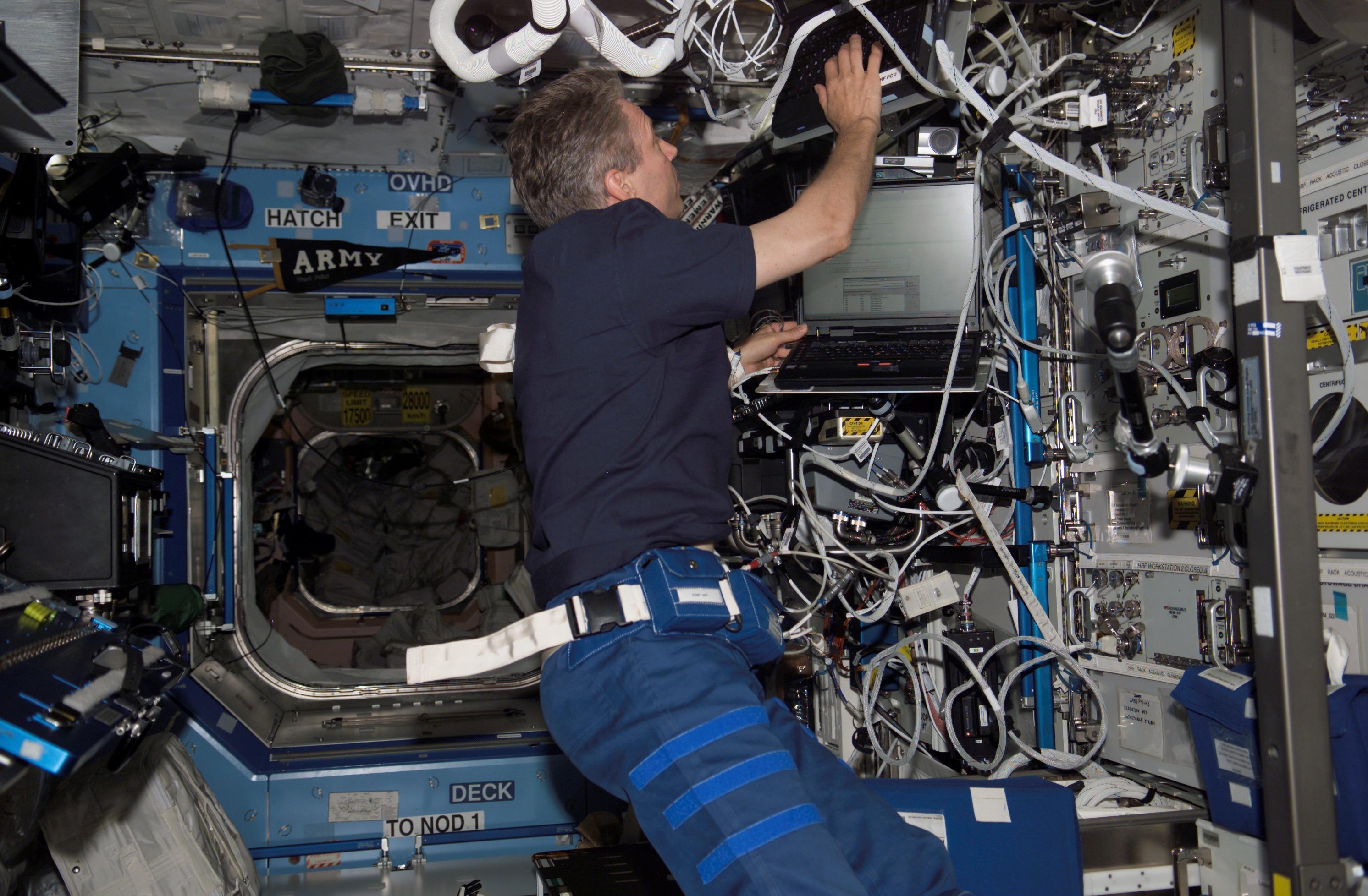 European Space Agency (ESA) astronaut Thomas R...