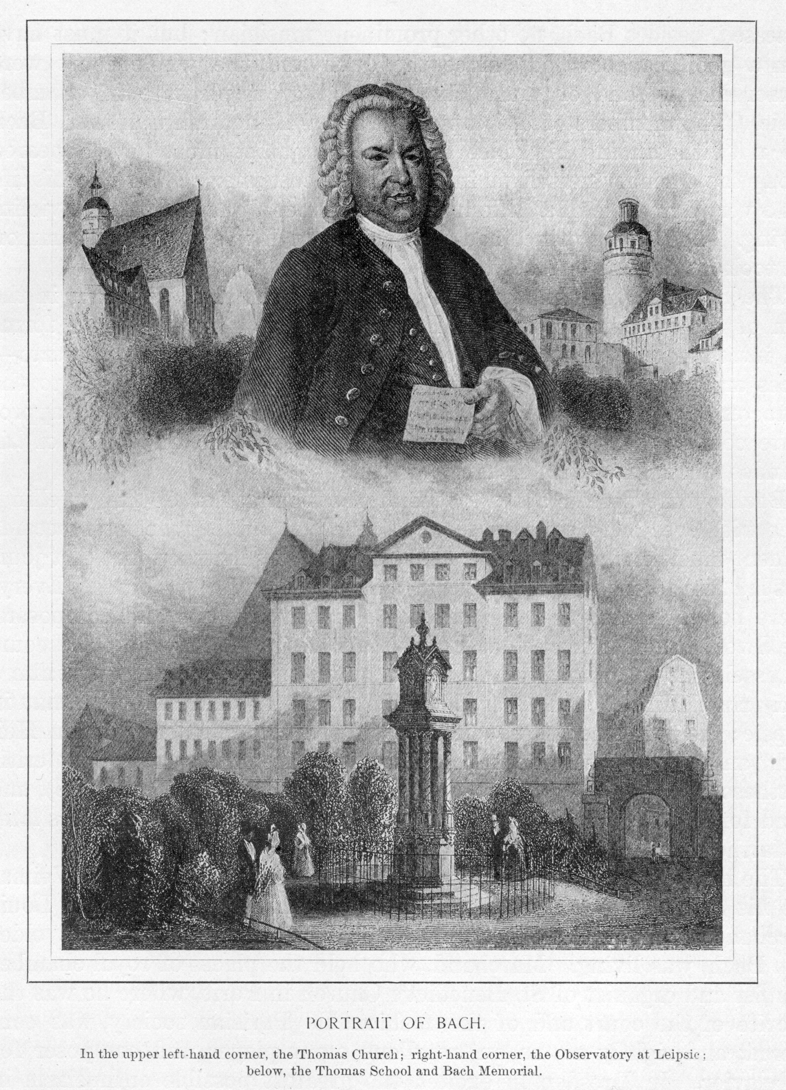 Portrait of Bach and his Estate