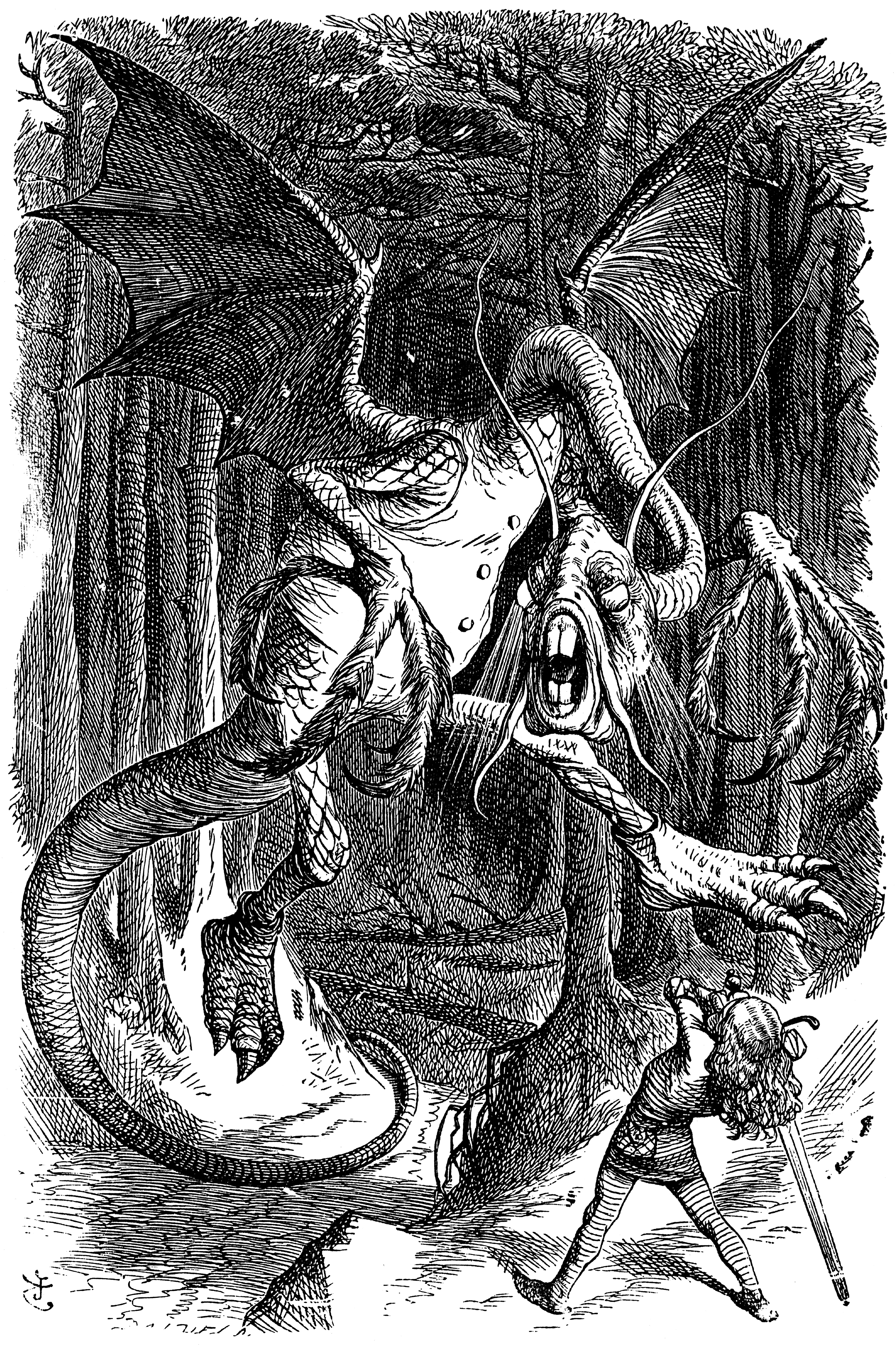Illustration of the Jabberwock by Sir John Tenniel