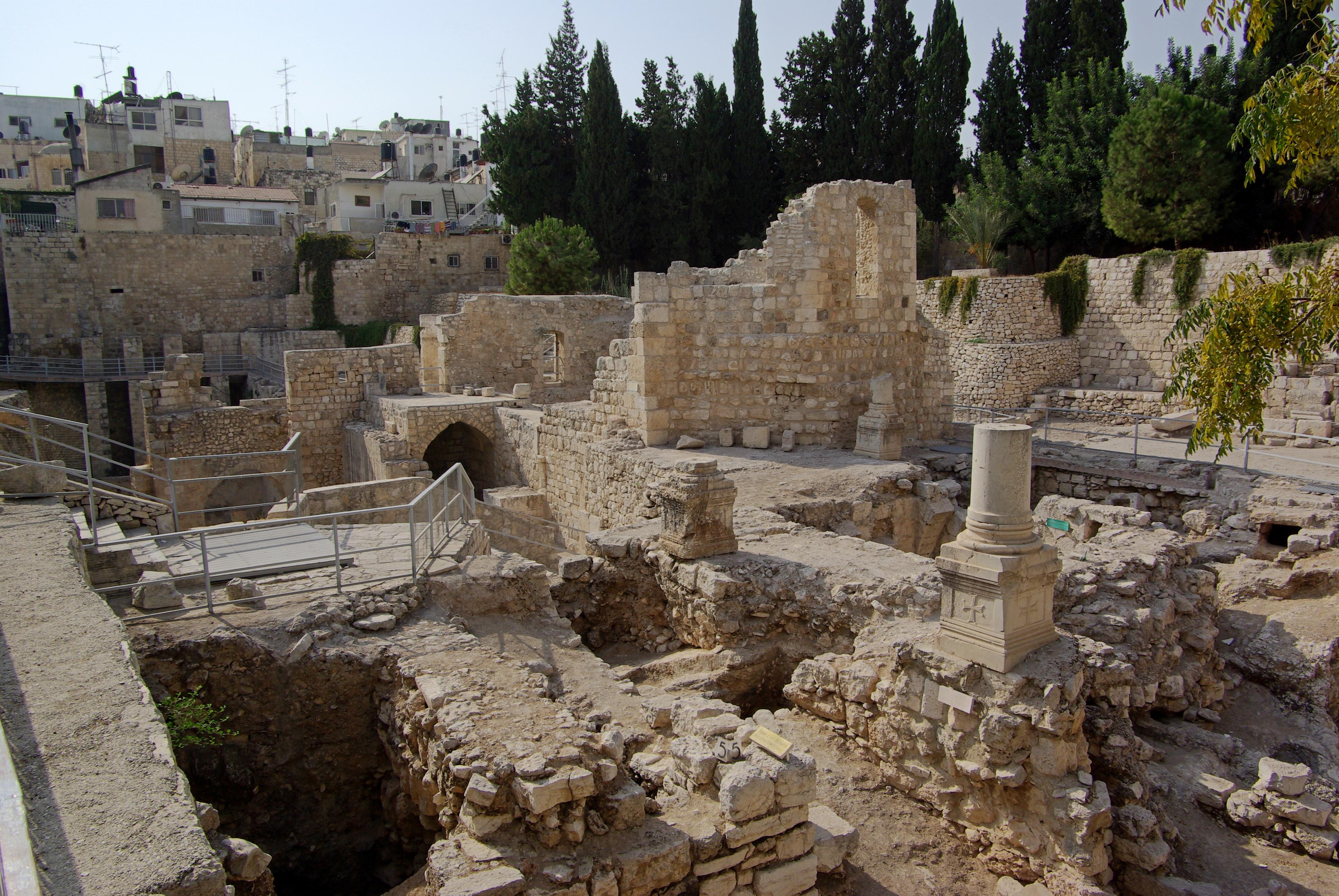 File jerusalem bethesda bw 6 jpg for Piscine de bethesda