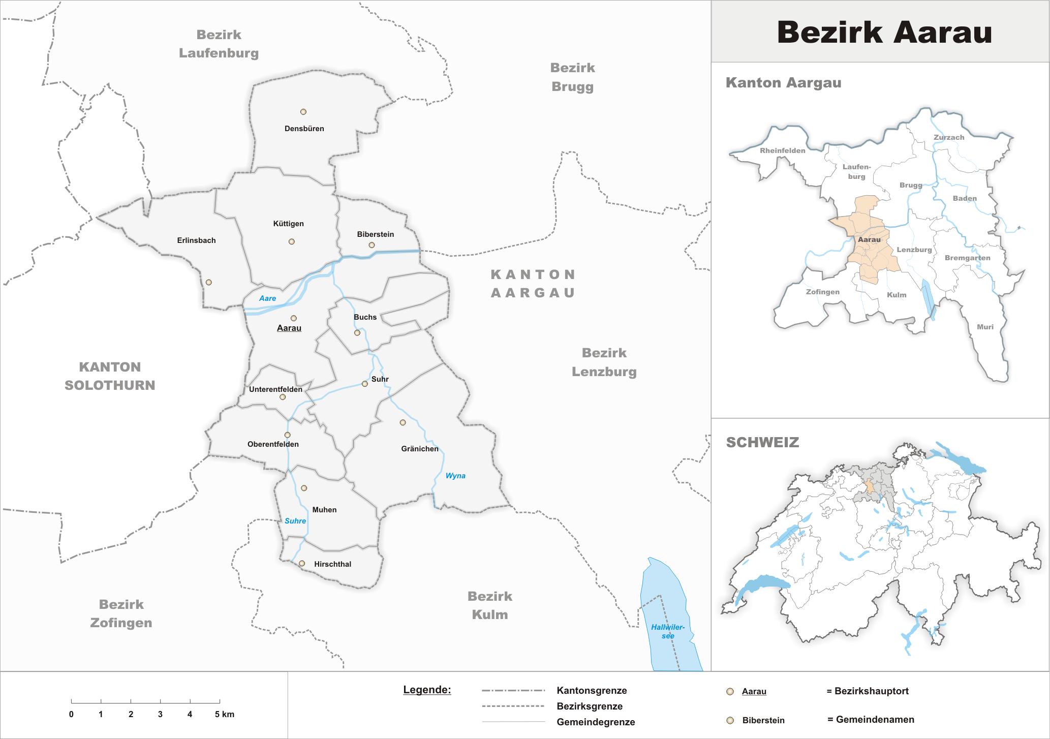 Depiction of Distrito de Aarau