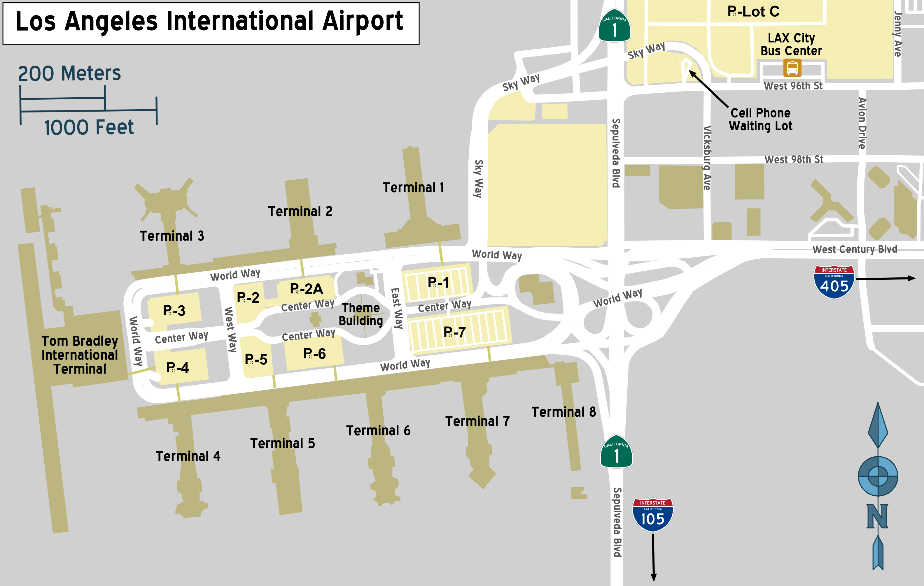 Avis car rental drop off los angeles airport