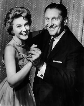 Photo of bandleader Lawrence Welk and singer N...
