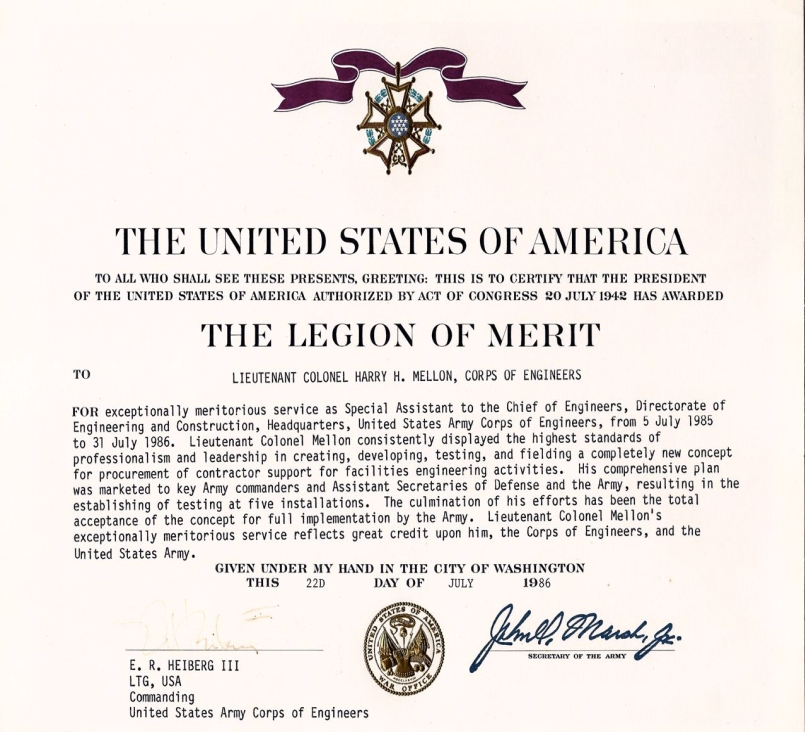 recipients of the legion of merit