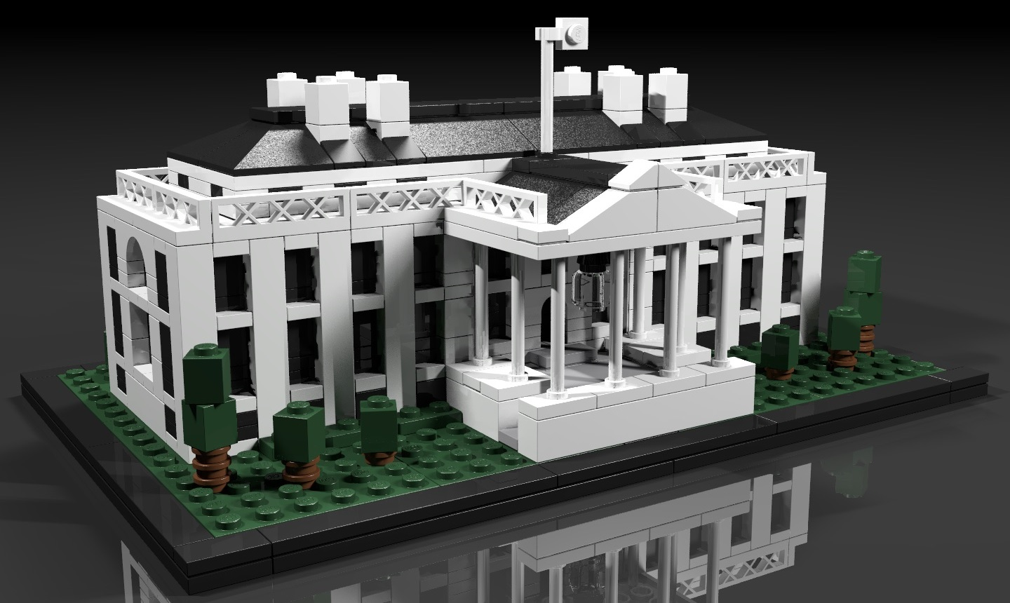 21006 the white house de lego. Black Bedroom Furniture Sets. Home Design Ideas