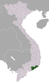 Location of Bình Thuận Province