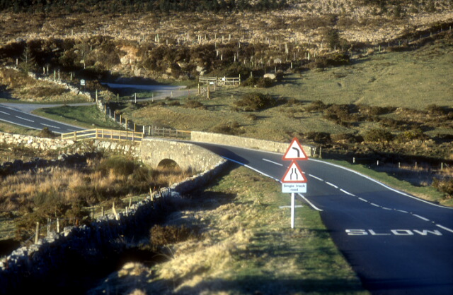 An image of the Lower Cherrybrook bridge on Dartmoor, allegedly one of the sites where the Hairy Hands grab the steering wheels of passing drivers.