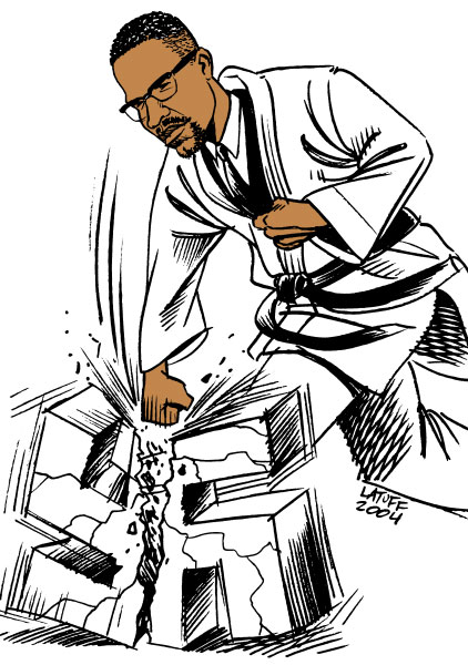 """""""Malcom X"""" by Carlos Latuff (2007)"""
