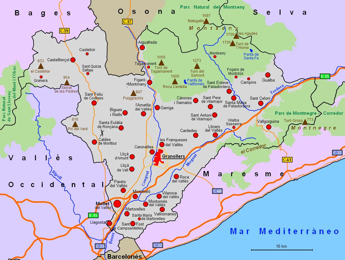 Datei map vall s wikipedia - Casas en el valles occidental ...