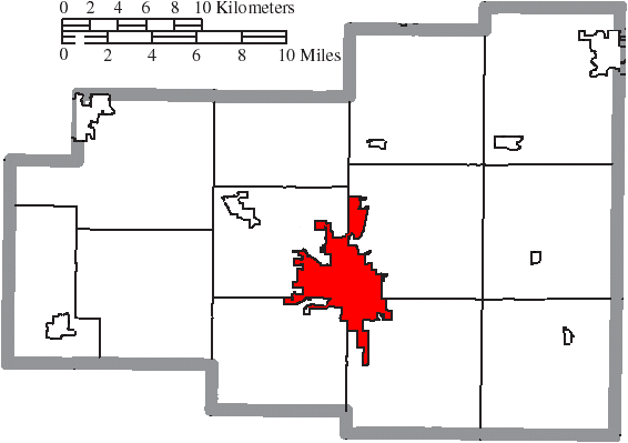 File Map Of Allen County Ohio Highlighting Lima City Png