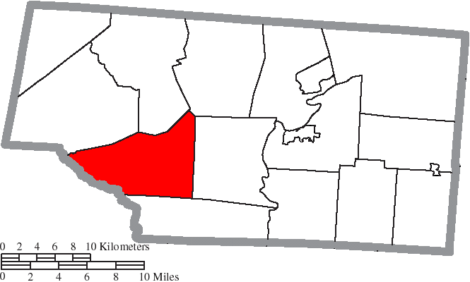 Filemap Of Pike County Ohio Highlighting Sunfish Townshipg