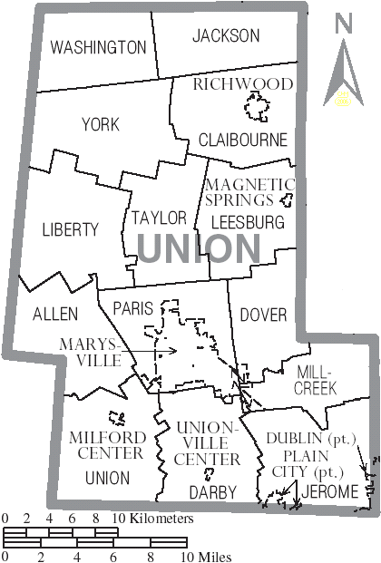 Union Ohio Map.File Map Of Union County Ohio With Municipal And Township Labels Png