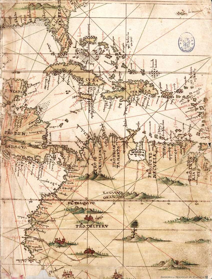 File:Mapa del Caribe y América Central (Siglo XVI).jpg - Wikimedia ...