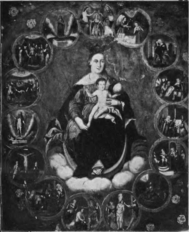 Znalezione obrazy dla zapytania matka boska różańcowa