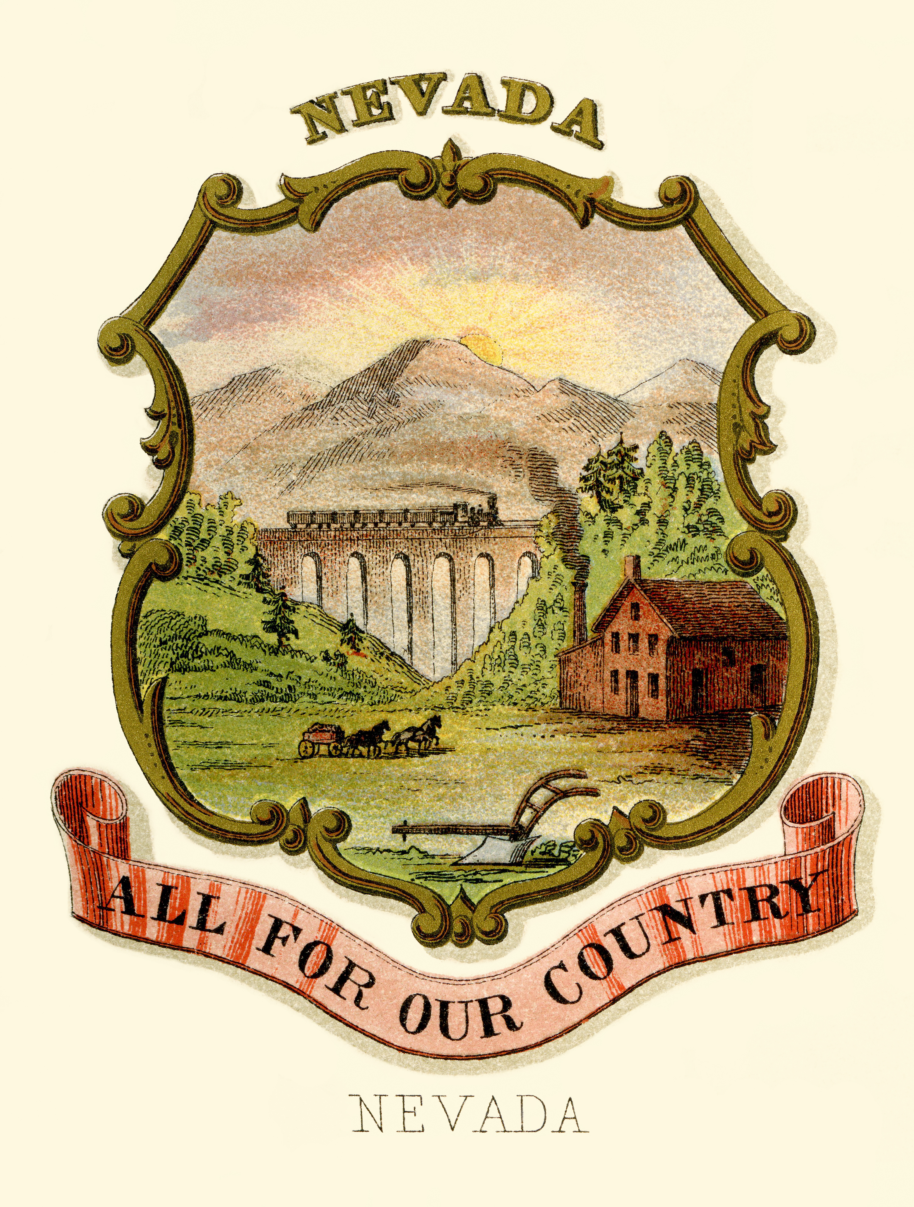 Filenevada State Coat Of Arms Illustrated 1876g Wikipedia
