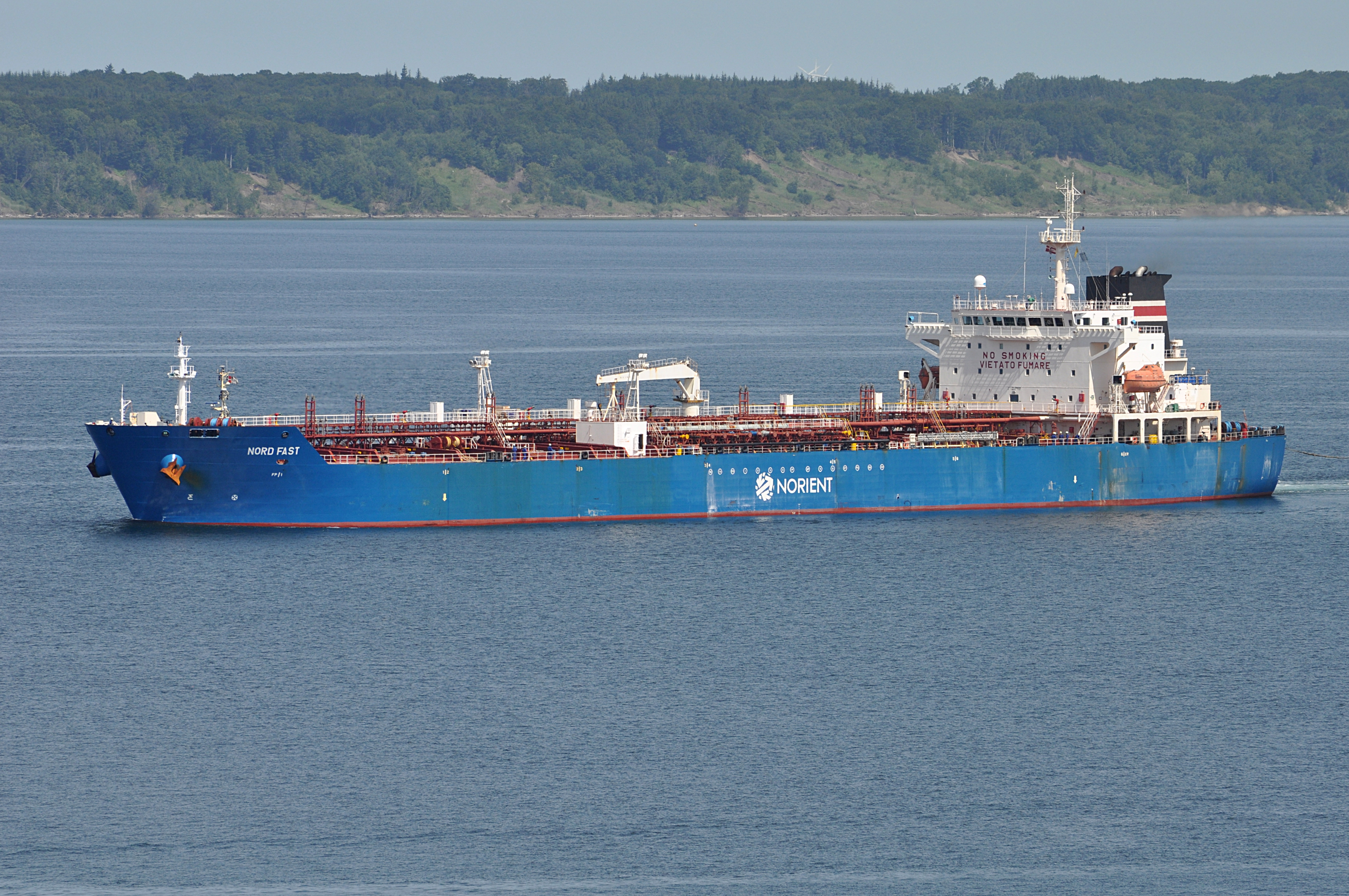 Nord Fast.1.ajb.jpg English: Tanker Nord Fast approaching port of Fredericia, Denmark. Date 8 July 2013, 12:24:36 Source Own work Author Ajepbah