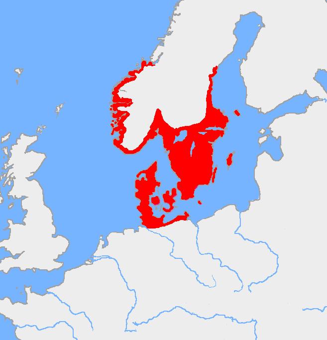Mapa de la Edad de Bronce nórdica