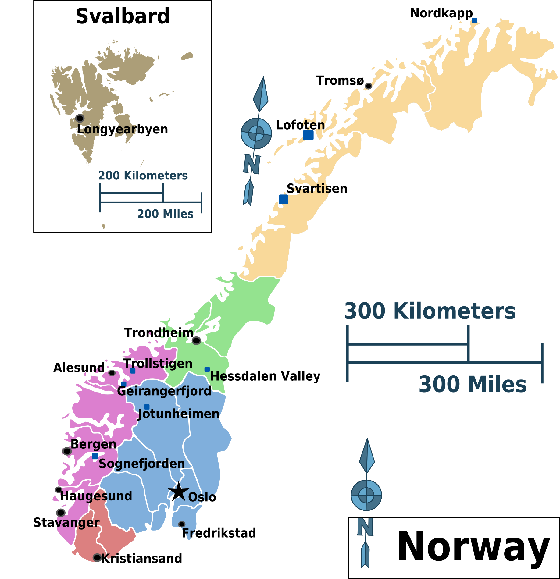 FileNorway Regions Mappng Wikimedia Commons - Norway map free