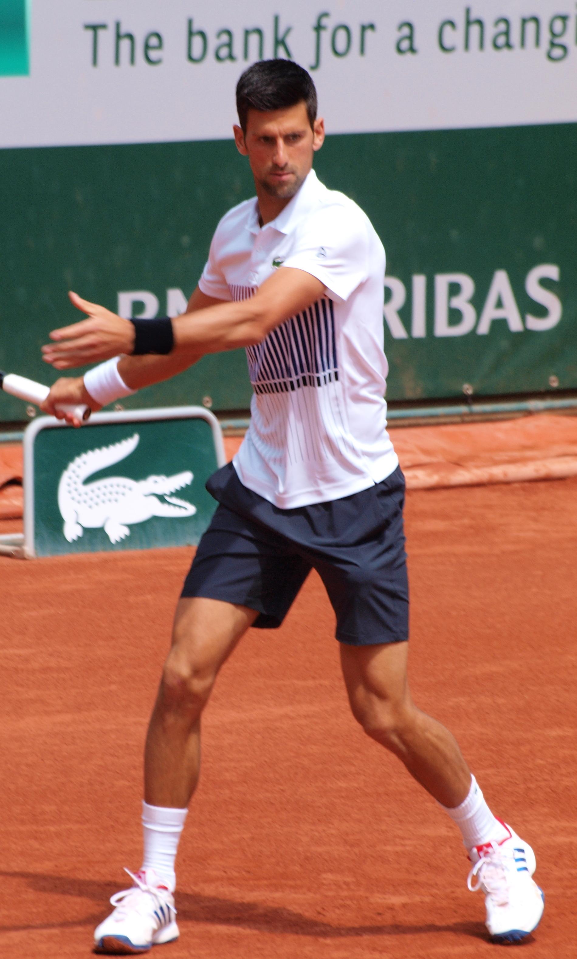 File Novak Djokovic French Open 2017 Jpg Wikimedia Commons