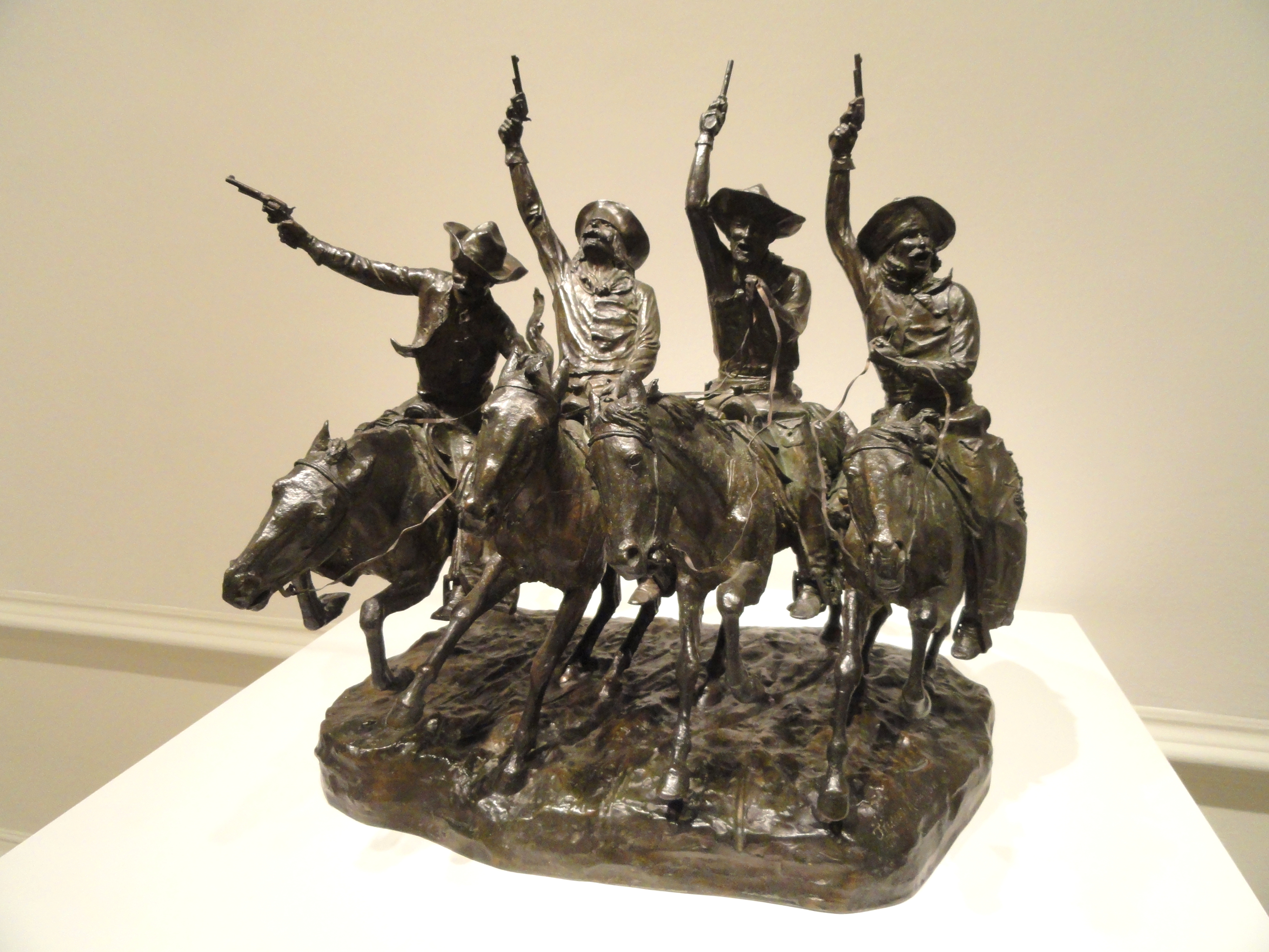 File Off The Range Coming Through The Rye By Frederic Remington Modeled 1902 Cast C 1903 Corcoran Gallery Of Art Dsc01250 Jpg Wikimedia Commons