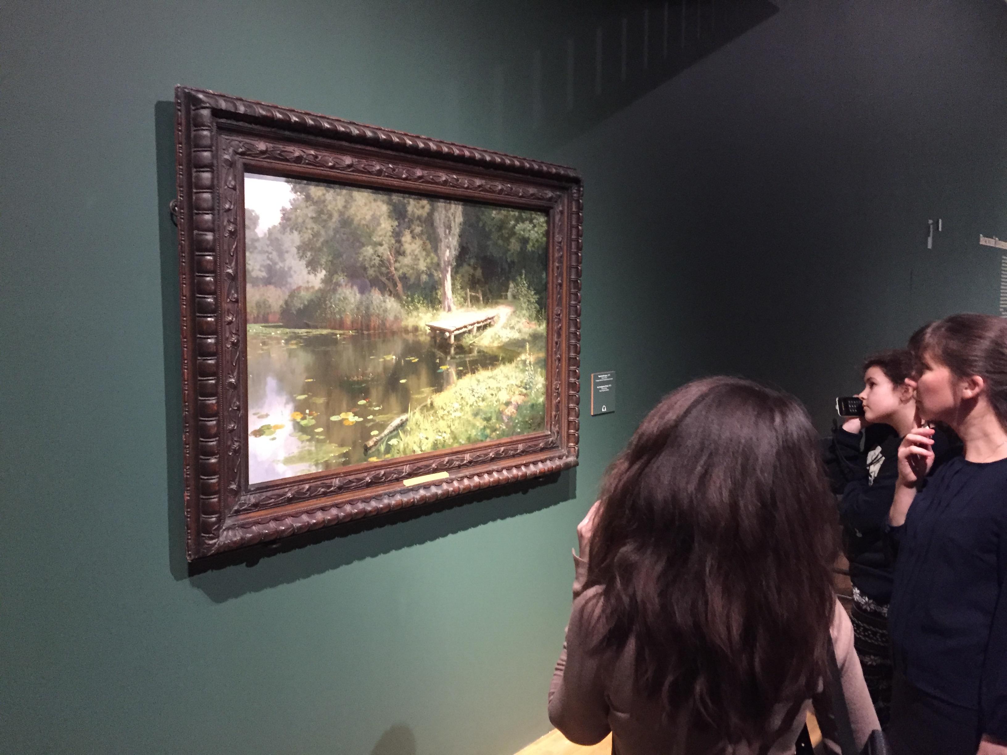 Overgrown pond by Vasily Polenov at the Polenov exhibition in New Tretyakov gallery IMG 9595.jpg