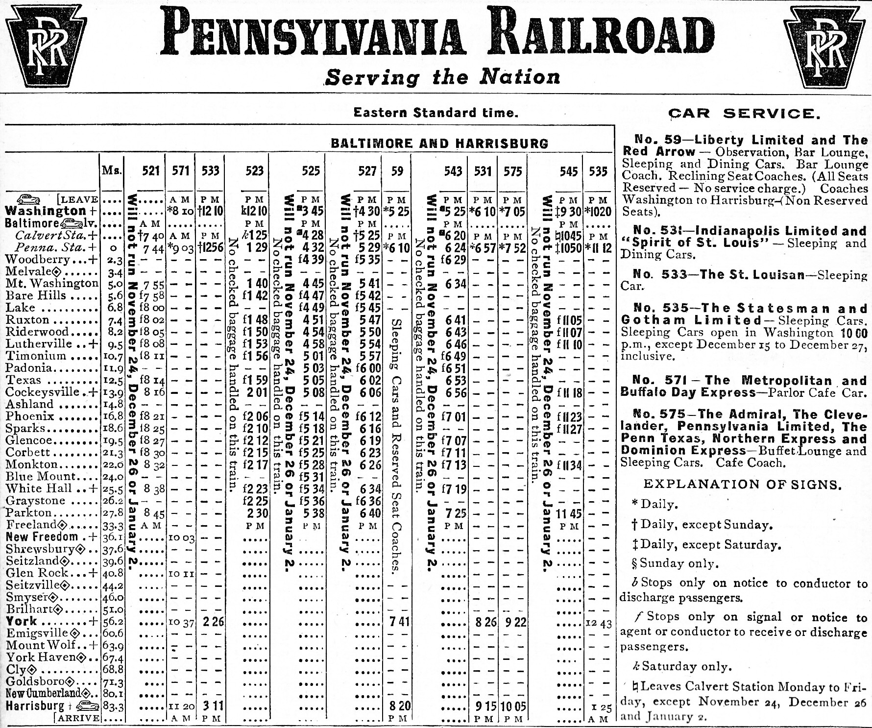 Passenger train schedules file prr 1955 schedule jpg wikimedia