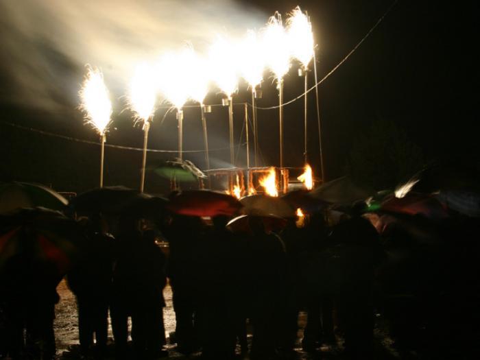 חנוכה 2007, טקס אש