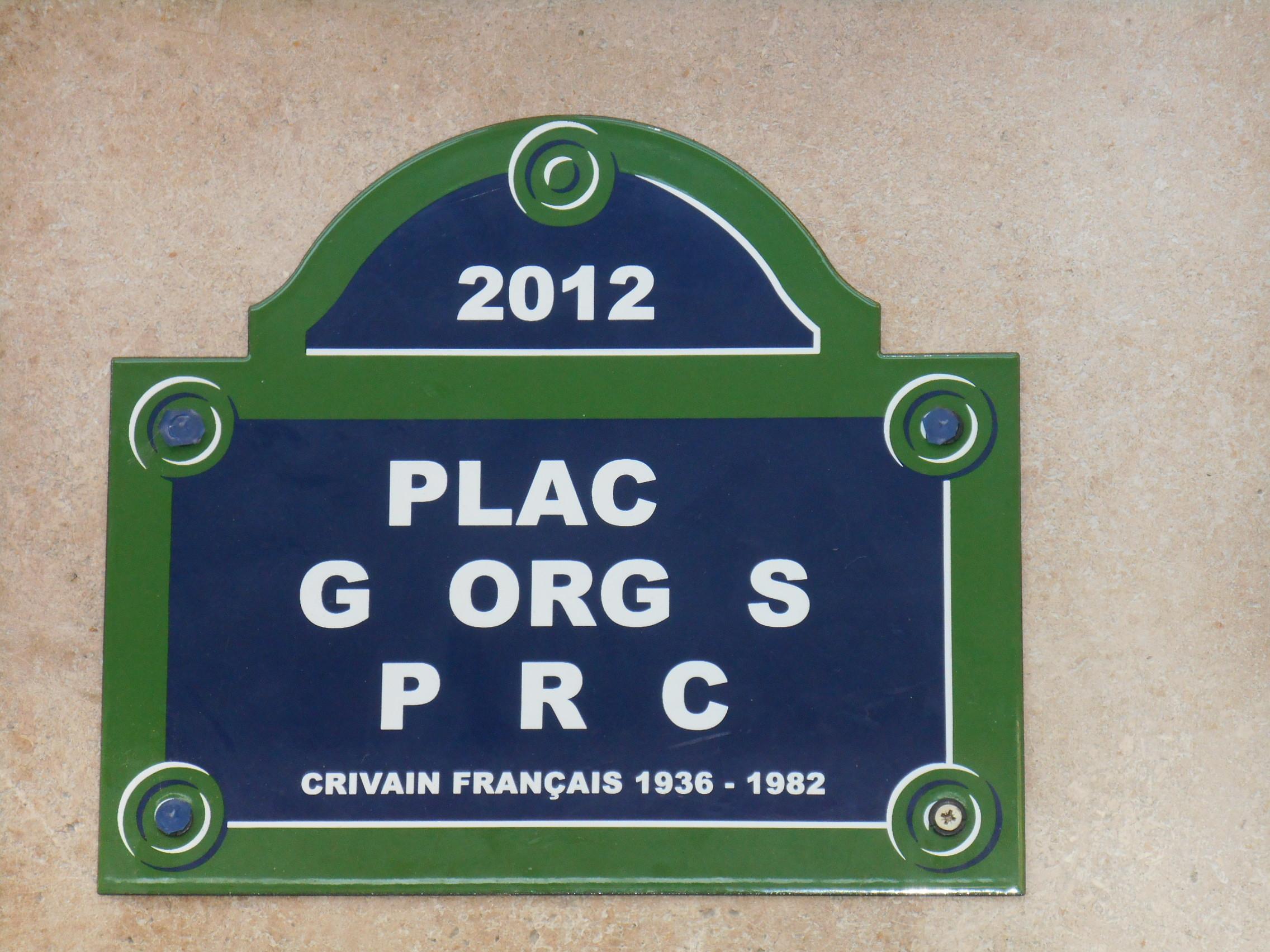 fausse plaque place georges perec - wikipédia