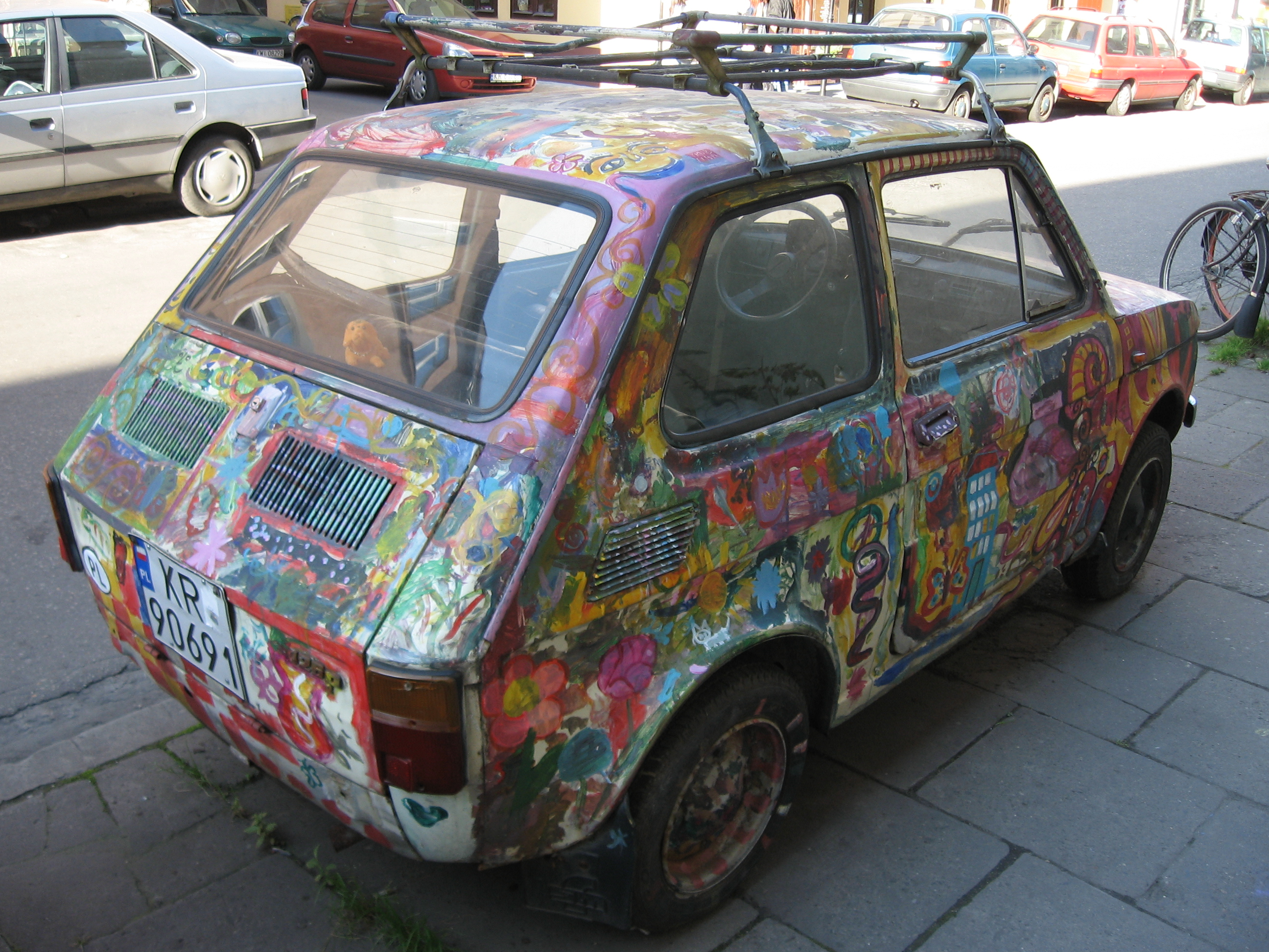 Custom Paint Shops Near Me >> File Polski Fiat 126p With A Custom Paintjob On Jozefa