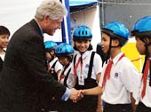 Bill Clinton at the inaugural Helmet for Kids ...