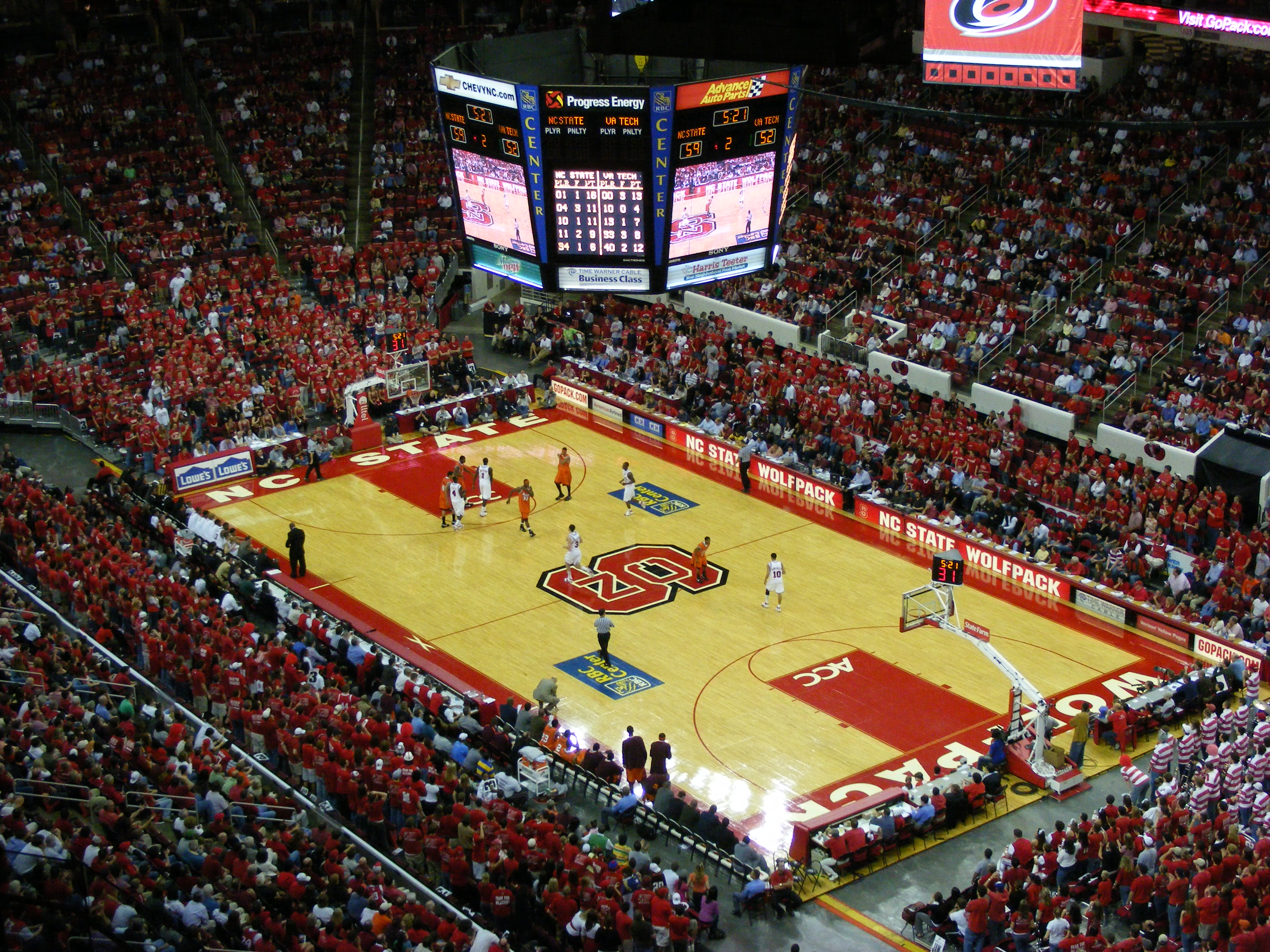 Depiction of PNC Arena