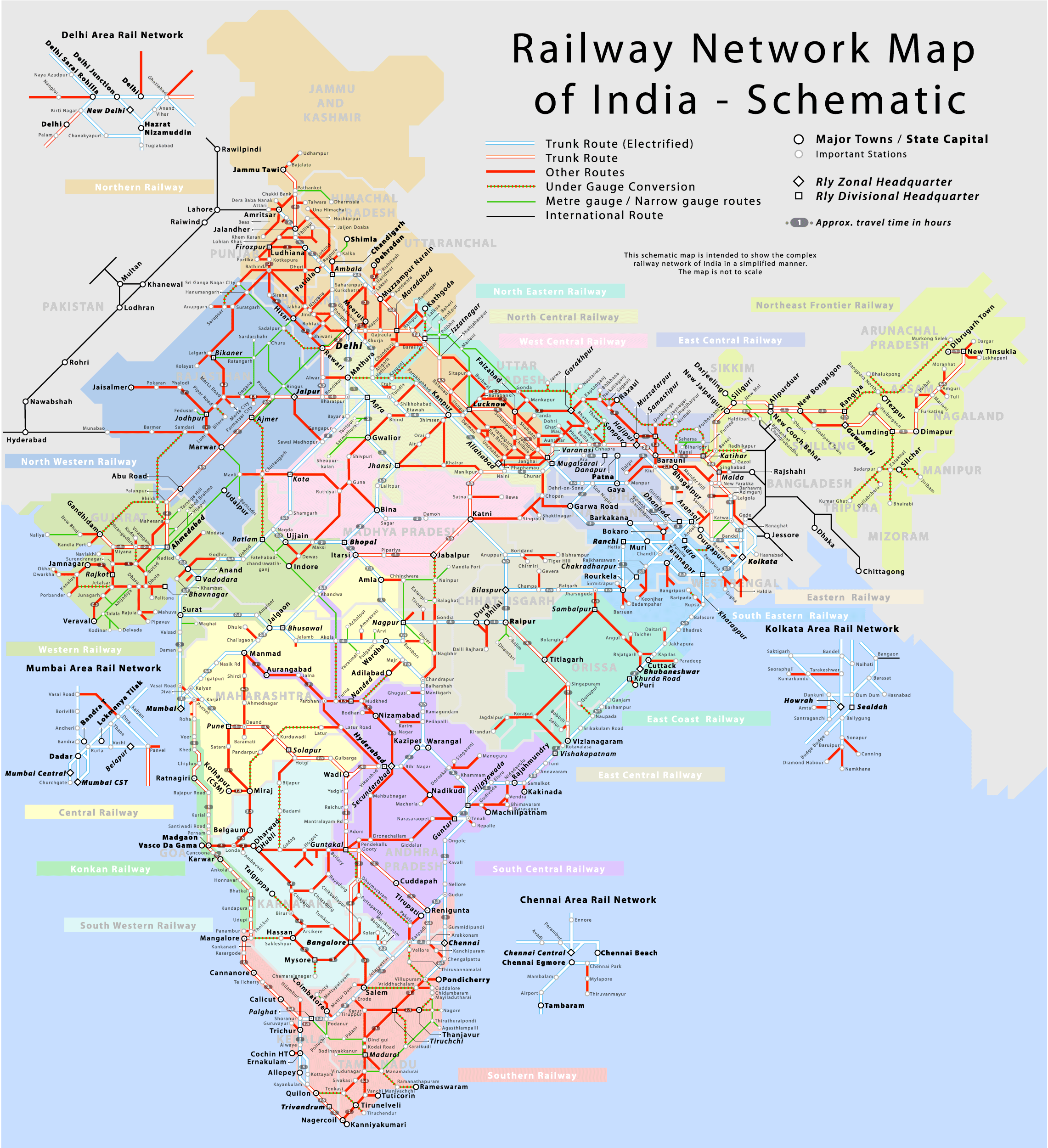 full size india map train route File Railway Network Map Of India Schematic Png Wikimedia Commons full size india map train route